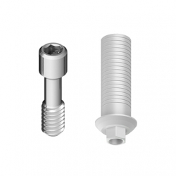 Calcinable Antirot. MD con Tornillo Ti. Hex. Interno